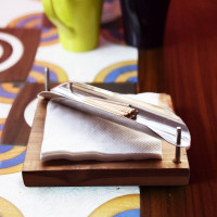 Square Napkin & Toothpick Holder